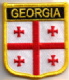 Georgia Embroidered Flag Patch, style 07.